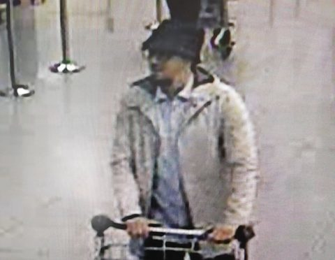 CCTV image issued by Belgian Federal Police of a man they want to trace in connection with the explosions at Brussels Airport.