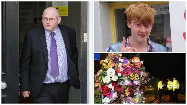 Charles Bruce, left, gave evidence yesterday
