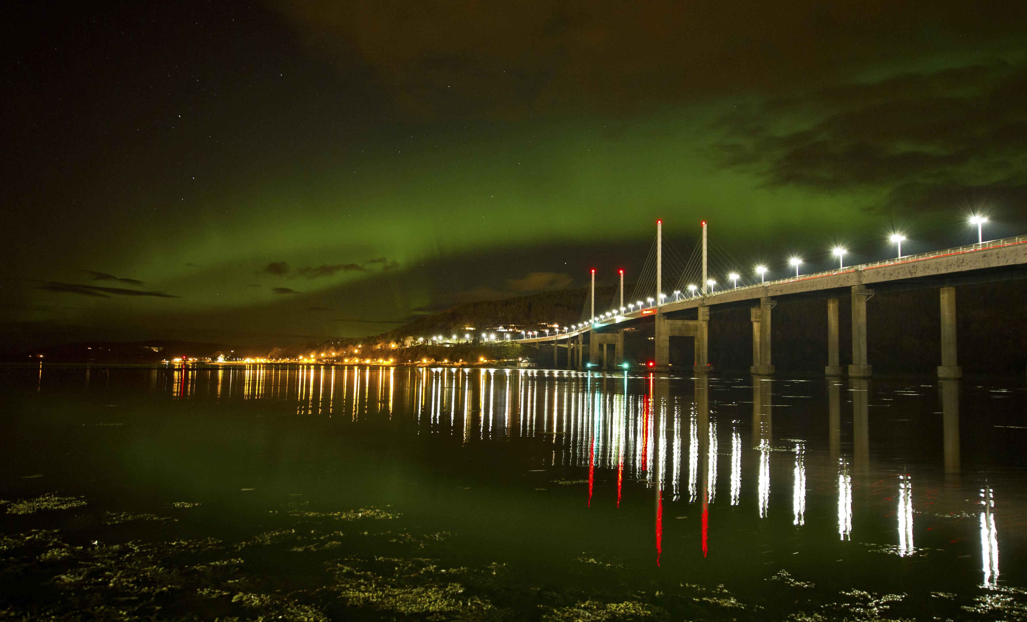James MacRae at the Kessock Bridge, Inverness