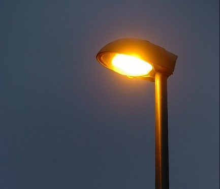 Street lights are being replaced with LED lamps