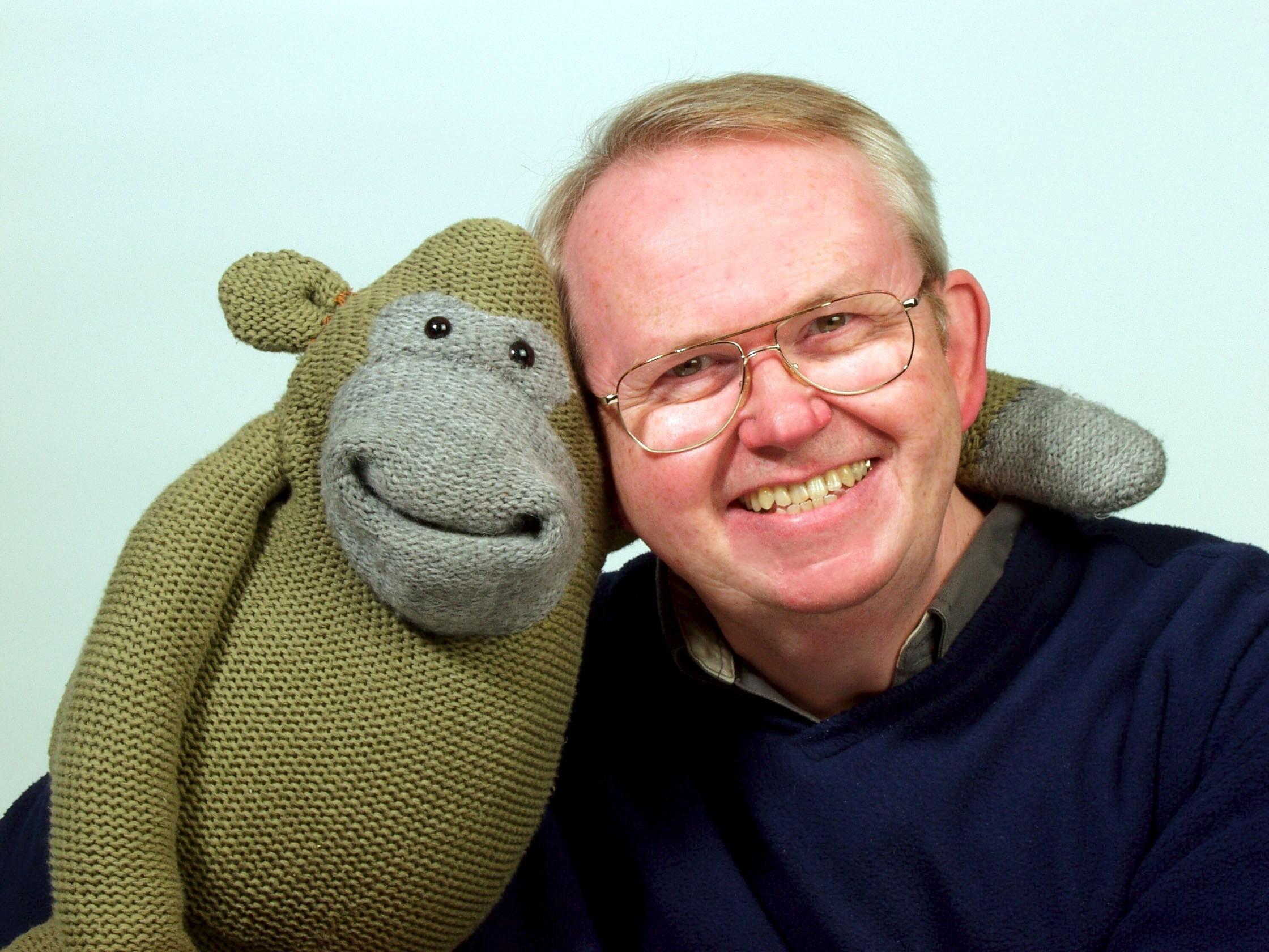 Nigel Plaskitt with Monkey