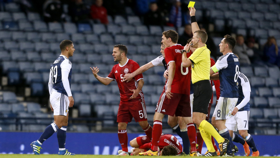 Bridcutt was booked for his challenge on Sviatchenko