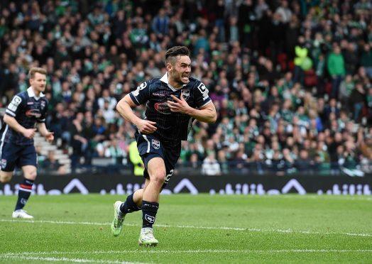 Alex Schalk scored the winning goal in Ross County's League Cup final win against Hibernian.