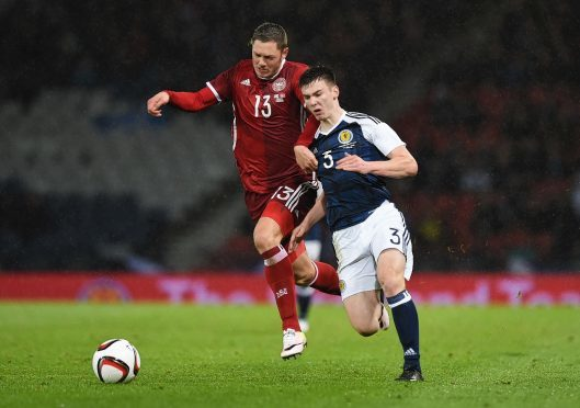 Kieran Tierney impressed at right back for Scotland.