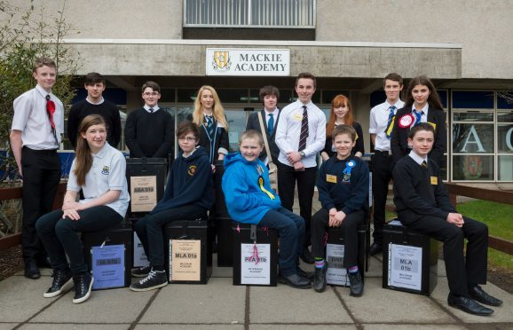 The winning pupils from each school
