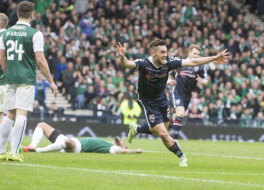 Alex Schalk scored the winner in Ross County's League Cup final win against Hibs.