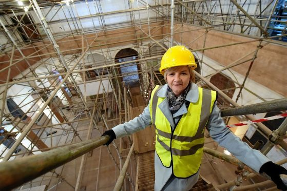 Aberdeen City Council leader Jenny Laing in the main hall of the gallery. Picture by Kami Thomson
