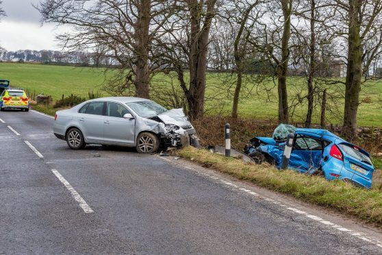 The scene of the crash on the B9170
