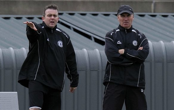 Edinburgh City joint managers Gary Jardine (left) and John Green