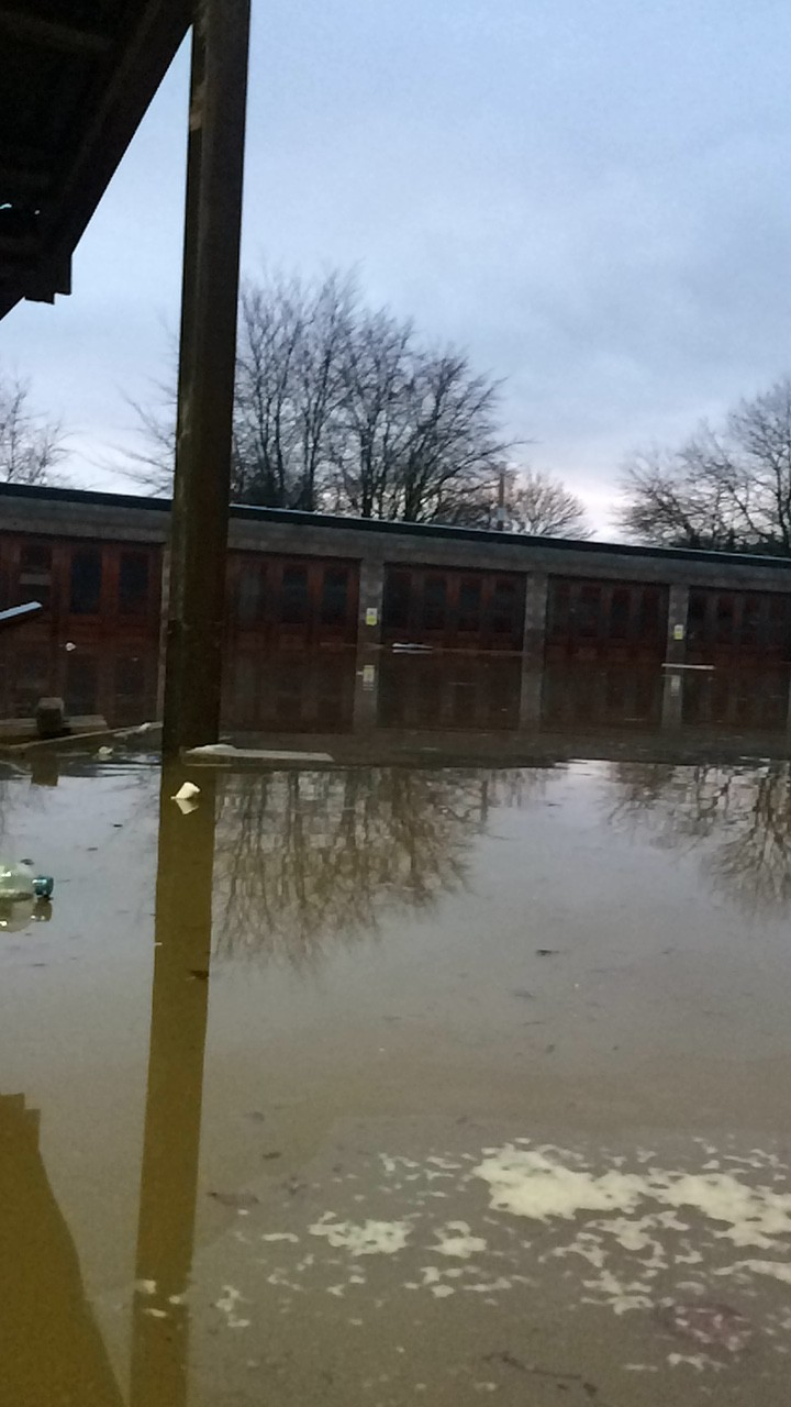 Flooding at Inverurie Precast in January