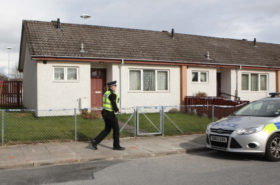 POLICE AT 5 KINTAIL COURT INVERNESS