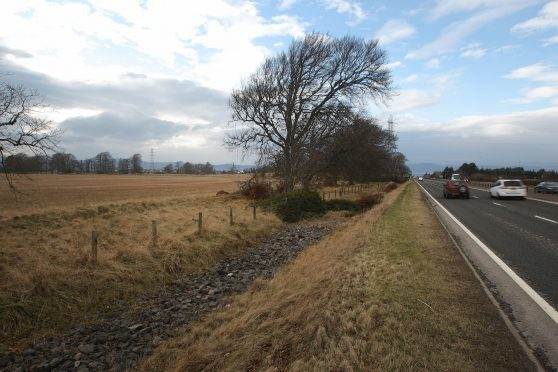 The proposed site for the new prison in Inverness