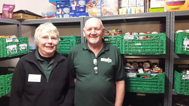 Lochaber Foodbank manager Alex McConachie and secretary Pat Leslie