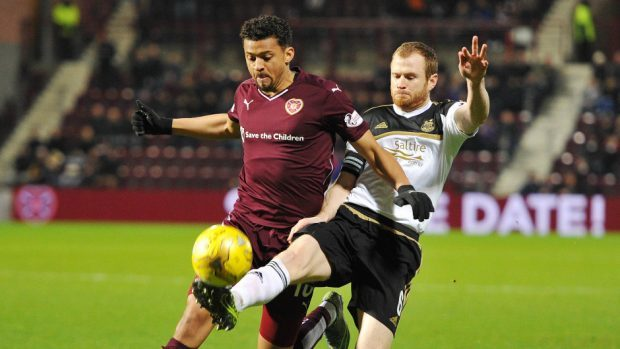 Mark Reynolds, right, is in confident mood ahead of a trip to Tynecastle