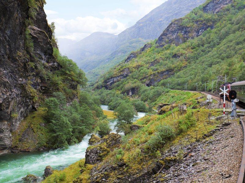 Flåmsbana Mountain Railway, Norway.