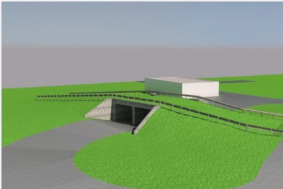 An illustration of the new underpass