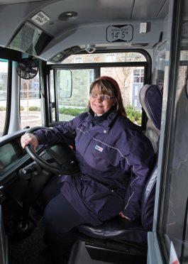 Sandra Cordiner, First Aberdeen driver.
