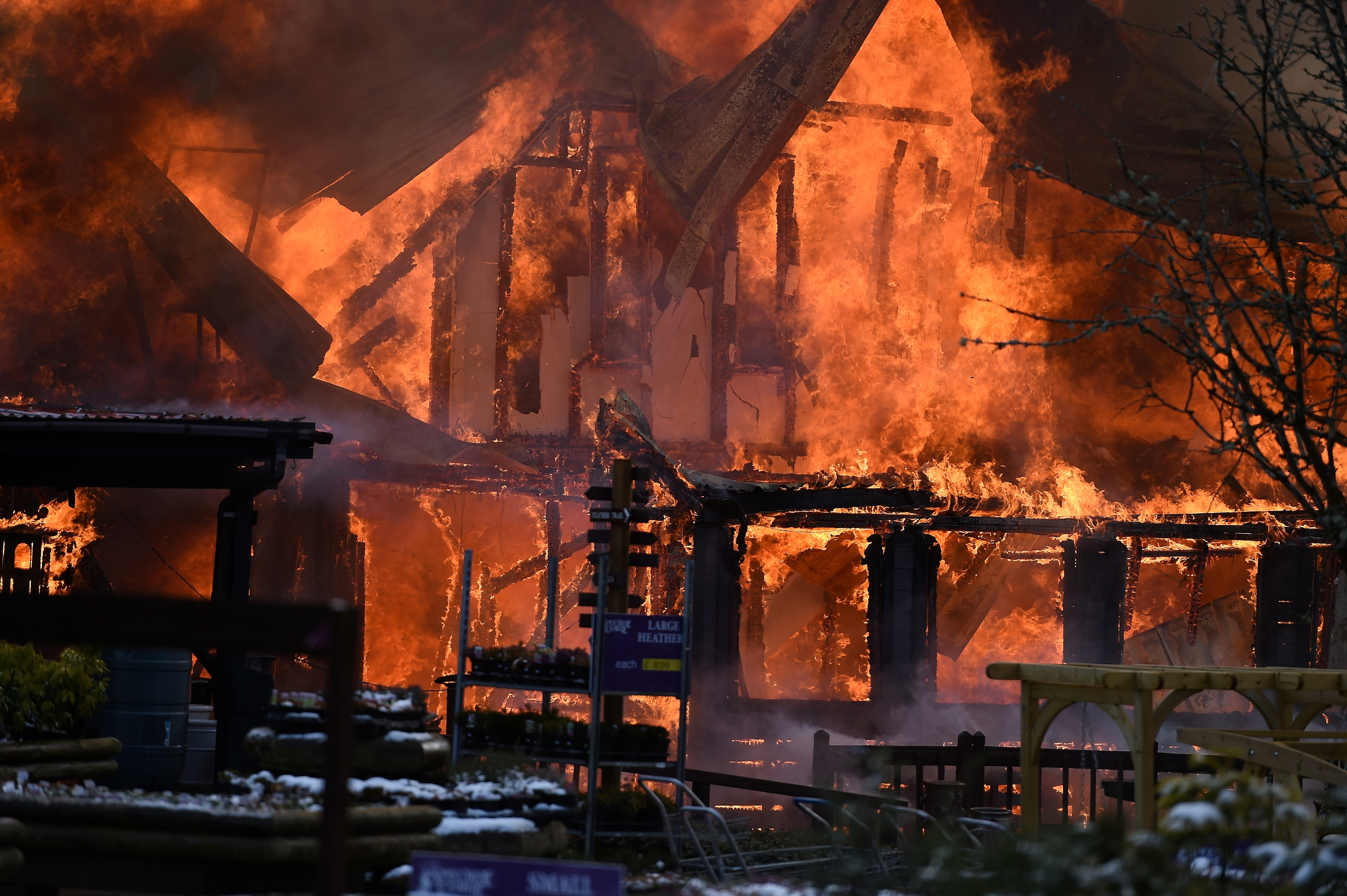 FIre crews battle huge fire at Speyside Heather Centre