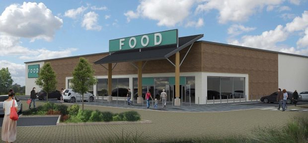 Artist impression of the supermarket plans for Stonehaven