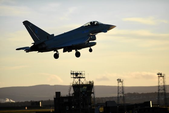 Typhoons will be among the military hardware making their presence felt at the start of the latest Nato exercises off Sutherland.