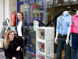 Emma Owen (left) and Cristina Vanzo won a competition to design a window display at Cancer Research UK shop on Union Street, Aberdeen.