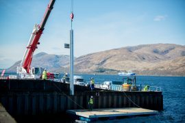 Work on the two floating pontoons in Fort William