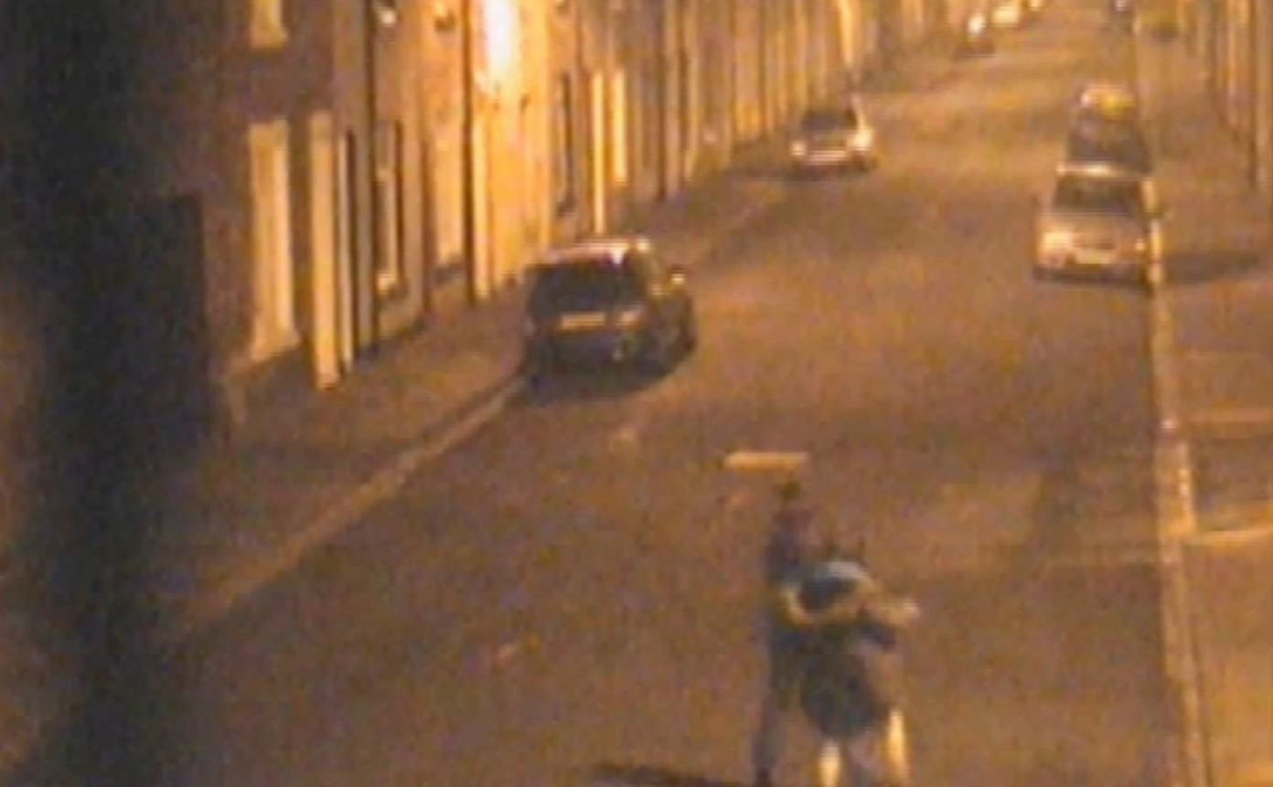Undated handout still from CCTV issued by Cleveland Police of two teenage girls walking back to the house of Angela Wrightson at 2am, they have been found guilty at Leeds Crown Court of murdering 39-year-old in her Hartlepool home.