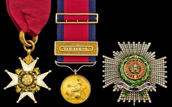 The gold medal (centre) awarded to General Sir George Turner