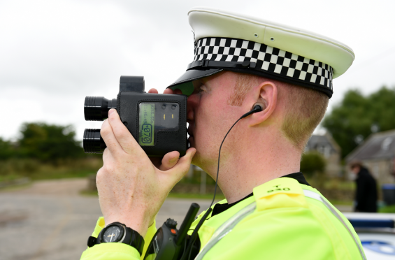 Speeders were snared by police carrying out a crackdown on dangerous driving.