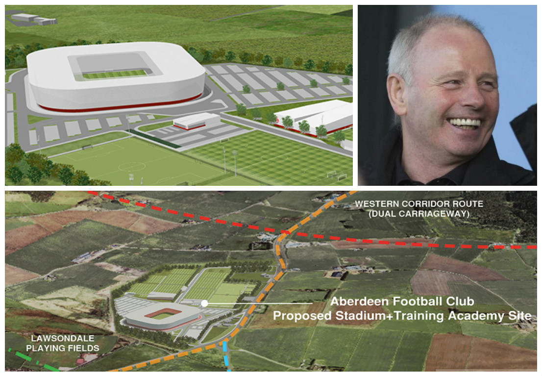 Stewart Milne is hopeful over the new stadium plans for the Dons