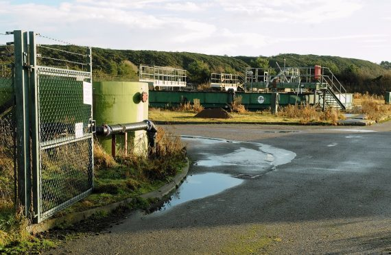 The existing waste water treatment works at Ardersier.