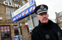 Inspector Ewan Strachan, of Police Scotland for Buckie and Keith, on patrol in Buckie trying to curb vandalism.