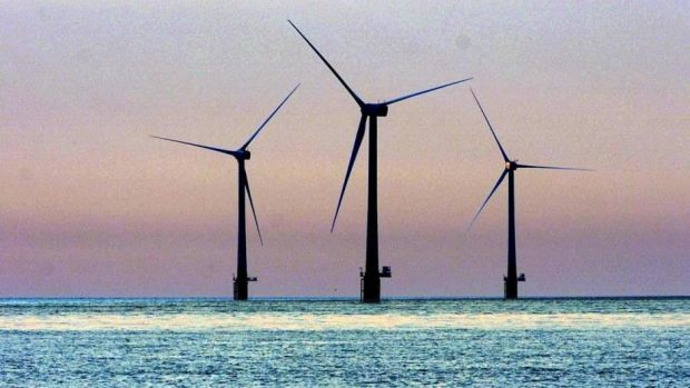 The Hywind project will see five turbines operate in waters around the coast of Peterhead, Aberdeenshire