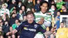 Ross County's Craig Curran, left, is happy to see an end to his nightmare season