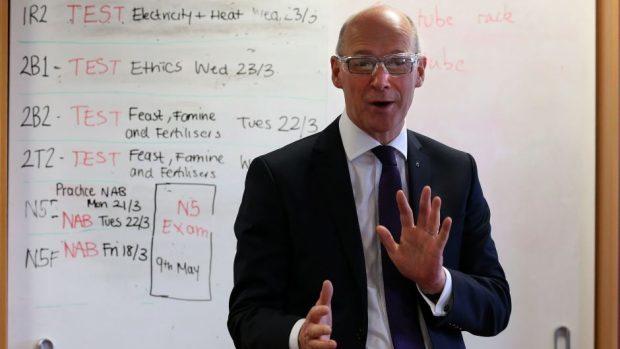 John Swinney said he wants to drive forward improvements in Scotland's schools