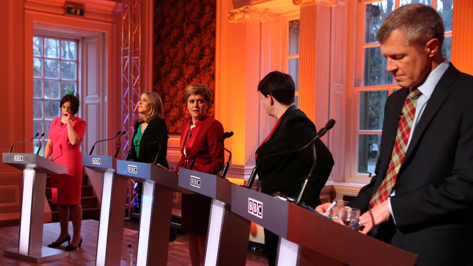 The leaders debated ahead of the elections