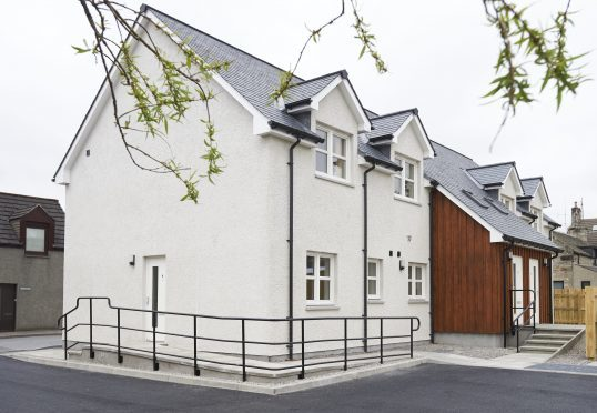 One of Albyn Housing's new flats in Grantown on Spey.