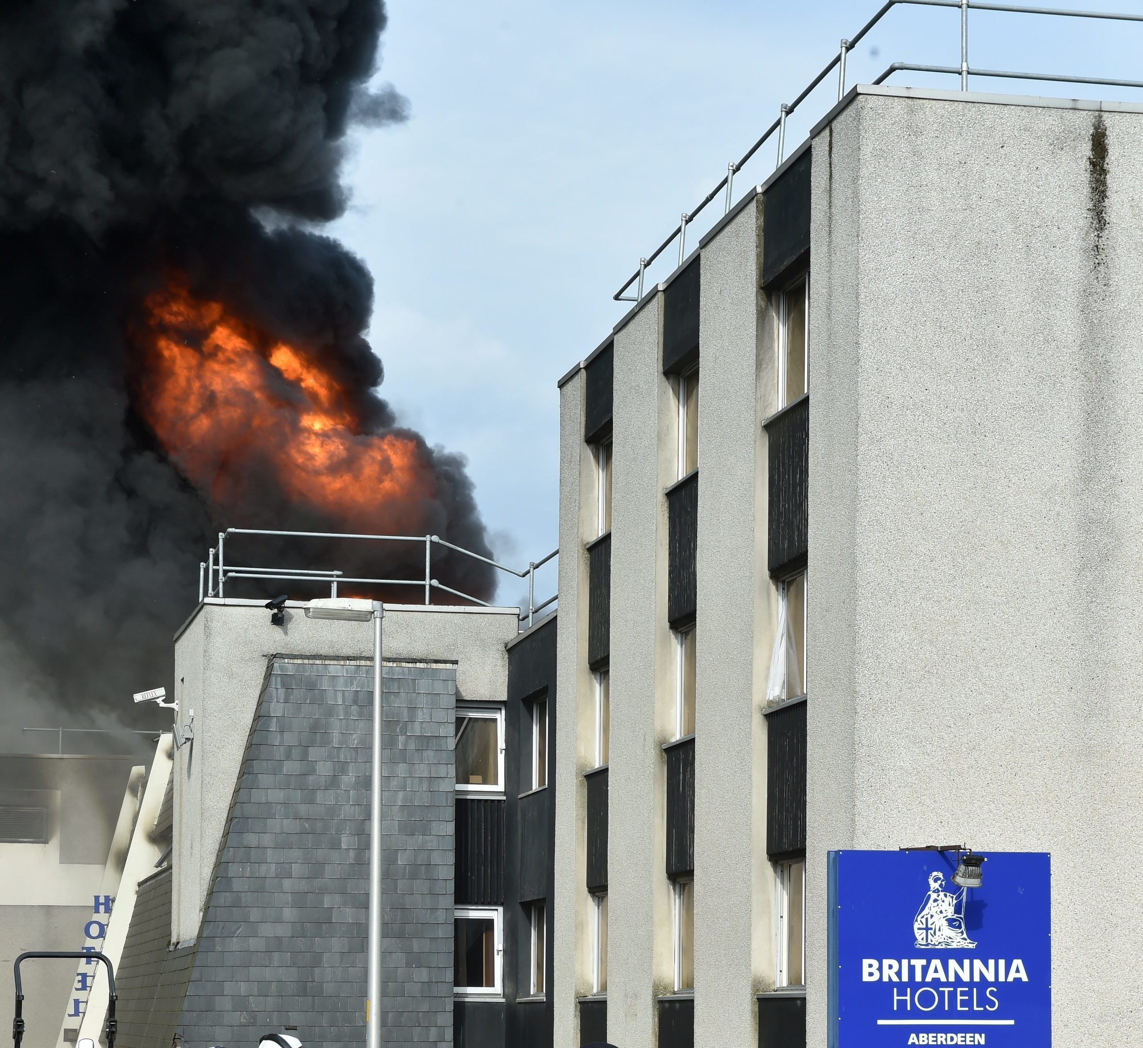 Britiania hotel Fire. Picture by Colin Rennie