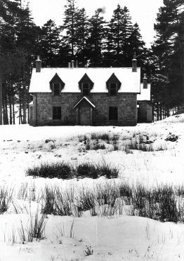 Derry Lodge, in the Aberdeenshire end of the Cairngorms