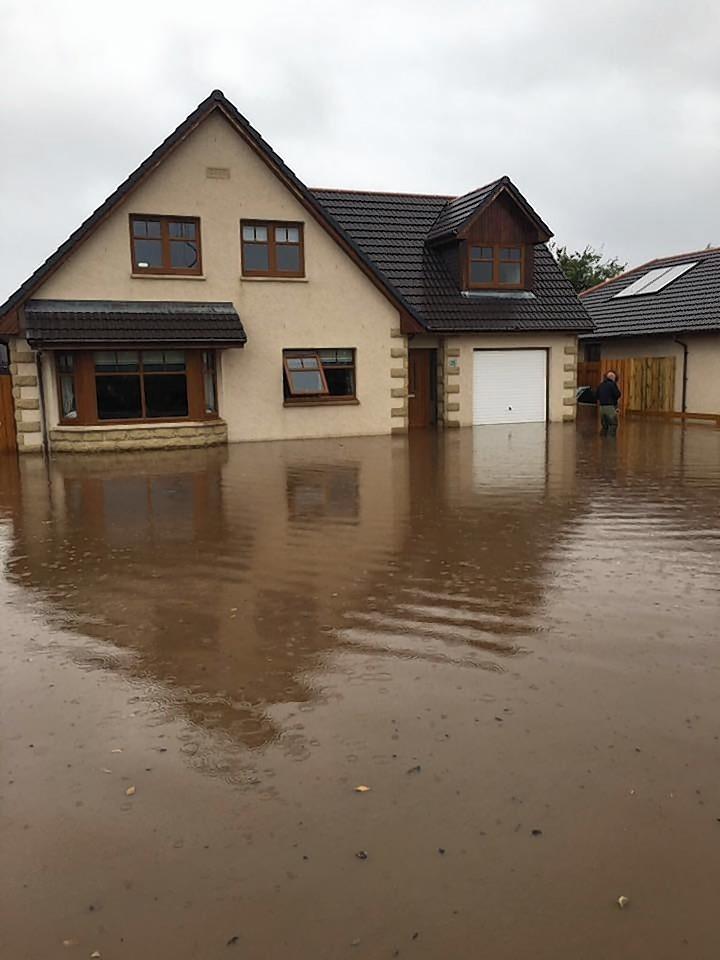 Flooding in Buckie