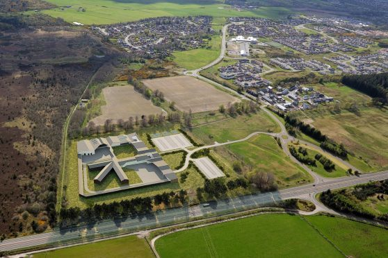 How the new Inverness jail was expected to look at Milton of Leys.
