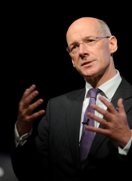 Education Secretary John Swinney has pledged to visit Moray to learn about the staffing crisis in schools.