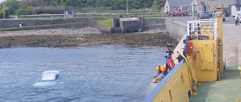 The driver was rescued and treated by the side of the water. Pictures and video by Airpro Media