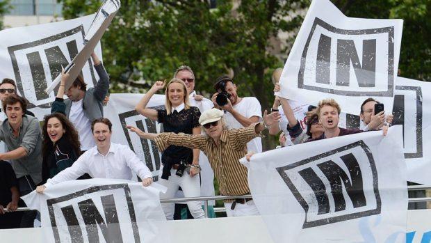 Bob Geldof on deck for the pro-EU demo.