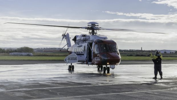 A Coastguard helicopter from Prestwick
