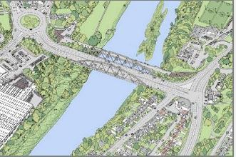 Proposals for the new bridge of the River Dee in Aberdeen