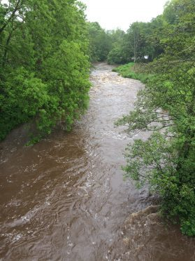 The nearby River Deveron is also rising.