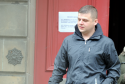 Shaun Webster was sentenced to unpaid work after ramming two police cars.