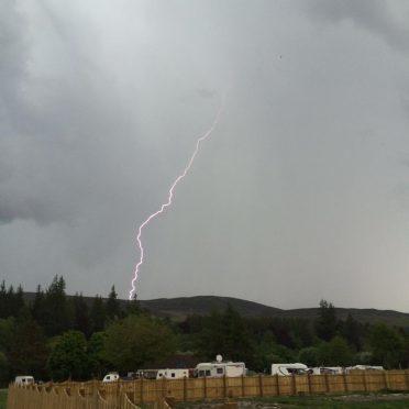 Thunder and lightning in ballater