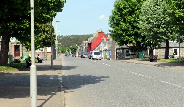 "Tomintoul resembled a ""ghost town"" during the closure."